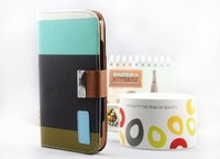 high quality colorful flip hybrid leather Case for Samsung Galaxy S IV i9500 GT-I9500 free shipping