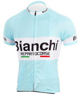 Hot Selling High Quality Summer Bianchi Cycling Jersey Only/Cycle Wear/Bike Cloth/Quick-dry clothing/Italy Ink/Some Sizes