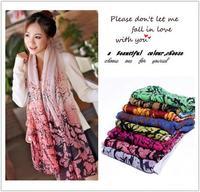 10pcs/lot Viscose New 2014 Scarf Winter Floral Shawls Wrap Fashion Summer Women Accessories Scarves Hijab Headband
