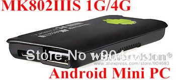 MK802 IIIS Mini PC Mobile Remote Control STB box 1GB RAM 4GB ROM Android 4.1 Dual core HDMI TF Card MK802-IIIS MK802IIIS
