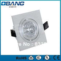 6PCS /lot 2013 led ceiling downlight square 3w With 2years Warranty,,Free Shipping led ceiling 75 mm hole with CE.EMC&RoHS