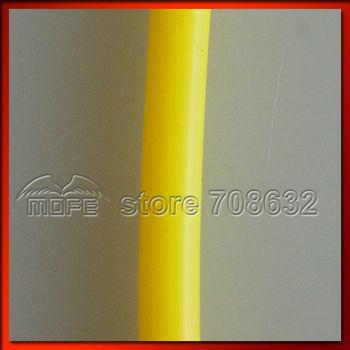 L: 1M 4MM Universal Original Logo 100% Silicone Vacuum Hose Yellow