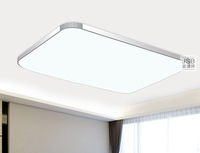 Lighting ultra-thin led ceiling light rectangle brief modern balcony study light