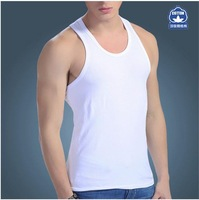 Mens quality vest cotton bottoming tight tank top breathable and sweat casual or sport undershirt for men Free shipping