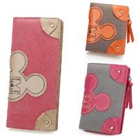 Matte Leather Women Wallets Cute QQ Mouse Brand Long Clutch Purse Female Zipper Hasp Pouch Girls Cute Cash Card Bag 2013 New