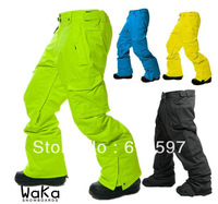 Free shipping Three-dimensional cutting 13 Waterproof Wind High Quality Fashion Outdoor Sports Men Ski pants Veneer Double Plate