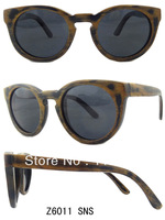 Free Shipping 2013 HOT Selling 100% Bamboo Wood Sunglasses With Polarized Lens For Women z6011SNS