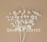 NEW arrival  white Pearl  flowers cakes weddings decoration , DIY bride ornamental ,100pcs/lot
