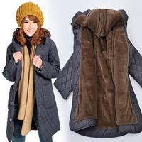 Plus Size XL-5XL 6XL (bust 130cm) 2014 New Autumn Winter Woman Parkas Loose Coat Women's Clothing Wadded Jacket xxxxxl xxxxxxl