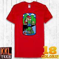 KKL Fashion Designer Brand Short Sleeve O Neck Graphic Printing T Shirt For Men Women Couple 2014 Free Shipping Mario Game