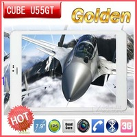 in stock 7.9 inch Cube U55GT MTK8389 Quad Core 1GB/16GB Android 4.2 tablet pc phone call tablet pc freeshipping