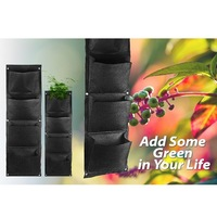 Vertical Wall-mounted Polyester Wall Planting Bags Flower Grow Bag Living Indoor Wall Garden Planter Bags