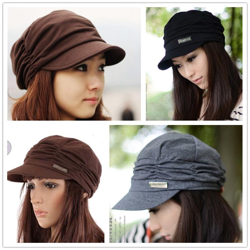 Free Ship Hot Sale Fashion Lady Baseball Cap Unisex Denim Jeans Falt Casual Peaked cap Visor Cap Sport Hat Black / Grey / Brown(China (Mainland))