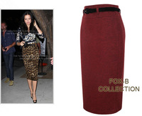 New Fashion Autumn&Winter Woolen skirt Step skirt Package hip Slim Skirt work skirt