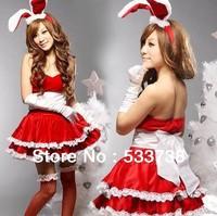2013 Newest sexy uniform taste the temptation rabbit women's rabbit lady ds performance wear christmas installation uniform