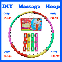 2013 Best price Hot!! Free shipping Novelty and Colorful DIY Massage hula hoop Therapy Massage Hula Hoop Slim Abdominal Exercise