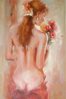 Handmade Crafts Sexy Women body oil paintings Modern Art High Q. Home Decor Gifts