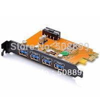 1PCS ORICO PFU3-2P/4P Desktop 2/4 Port USB3.0 PCI-Express Card with PCI Bracket for Mac/Windows Factory Wholesale
