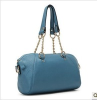 2013 women's handbag genuine leather fashion first layer of cowhide chain portable one shoulder cross-body small bags