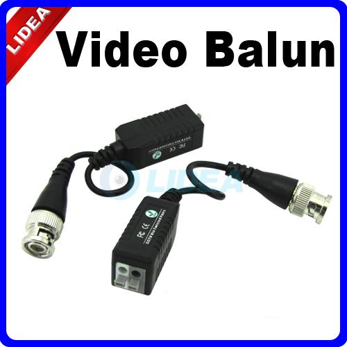 2x UTP Network Video Balun Transformer CAT5 to Camera CCTV BNC DVR EMS B-11(China (Mainland))
