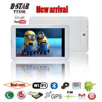 "Free shipping 7"" B-star T731B Android 4.1 tablet pc Dual core MTK6577 Dual SIM slots 1024*600 screen 3G WIFI FM Bluetooth GPS"