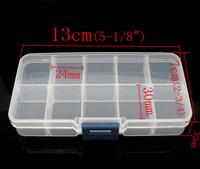 Clear Beads Display Storage Case Box 13x7x2.3cm (B07030)8seasons