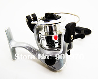 Free Shipping&Hot sale  spinning fishing reel   5.1:1  silver color, plastic spool.