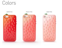 Lovely Cute 3D Strawberry Soft Case For iPhone 4 4S iPhone 5 5S Silicone Case For iPhone Stylish Cover With Double Color