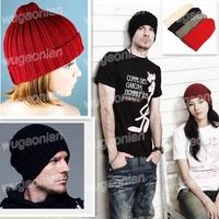 Fashion Unisex Men Women Warm Plain Wool Knitting Ski Beanie Hat Free Shipping 1pcs/lot