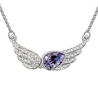 100% Guaranteed christmas gifts 4 Colors wholesale wholesale 18K Gold white Gold Plated Crystal necklace