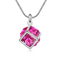aces Free Shipping High Quality 18K Platinum Plated Austrian Crystals Necklace Pendant For Women Variety Of Colors - watercub