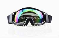 Adult Outdoor Sports Coloured Lens Black Frames Snowboard Skate Ski Motocross ATV Off-Road Ski Snowboard Goggles Glasses Eyewear