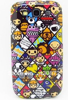 Graffiti cute cartoon roles hard case cover for samsung galaxy s3 telephone cases covers to samsung i9300 9300 retail&wholesale