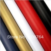 "FREE SHIPPING 152CMx30CM  3D carbon film carbon fiber vinyl carbon fibre car sticker (62X11.8""/152X30cm)--13 color option"