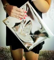 2013 European and American  Hologram Laser Bags Fashion Female Envelope Day Clutch Bag Bronzing