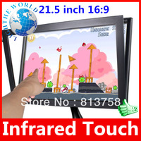 21.5 inch 16:9 5 Wire USB Plug  Infrared Multi Touch Screen Panel kit for Win7/8 Play Infrared touch screen usb touch screen