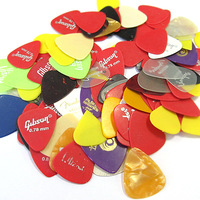 100Pcs Smooth Nylon 0.38-0.8mm Standard Electric Acoustic Guitar Picks Plectrums[030315]