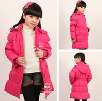 Free shipping 2013 new baby child girl winter warm down jacket coat jacket cute cartoon Winnie duck down clothing