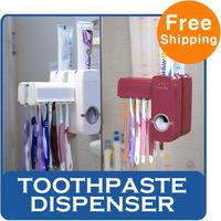 Toothpaste Dispenser Squeezer Toothbrush Holder Comfortable Bathroom Luxury