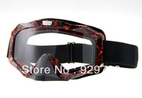 FREE SHIPPING Adult Motocross Dirt Bike ATV MX Off-Road Goggles Screen Filter Clear Lens Black