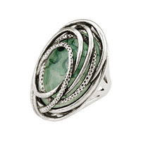 2014New Arrival Women Fashion Vintage Antique Sterling Silver Resin Statement Rings Jewelry