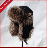 Free shipping men's winter Bomber Hats PU lei feng cap thermal ear hat winter skiing cap  H0016