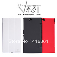 NILLKIN V-series Leather Case for Sony XL39H(Xperia Z Ultra) + retailed package + free shipping