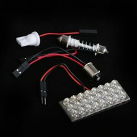 24 LED White Dome Bulb Light for Car Interior with 3 Adapters,20pcs/lot,wholesale,free shipping dropshipping