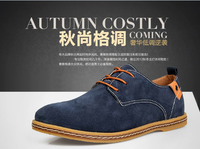 2013 autumn the trend of fashion shoes high quality cowhide quality suede male shoes