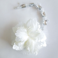 Bridal Hair Accessories Wedding Veil Accessories White Flower Headdress Crystal Hairdress Jewelry