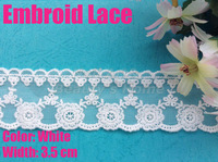 0.75$/meter.sale from 1 meter,3.5cm width white  lace  for fabric warp knitting DIY Garment Accessories#1779