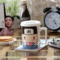 free shipping Color Changing Mug Magical cartoon Coffee Cup Temperature Sensing Novelty Gift