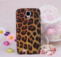 Leopard case!plastic hard for I9500 Galaxy S IV(5pcs/lot)