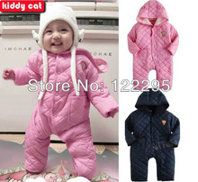 Free shipping  new winter baby warm coat male and female baby clip leotard / cotton climbing clothes Romper(China (Mainland))